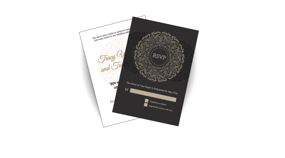 Response cards printing wedding rsvp foil stamping card response cards reheart Choice Image